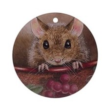 Mouse Christmas Ornament (Round)