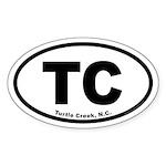 Turtle Creek TC Euro Oval Oval Sticker (50 pk)