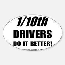 1/10th Oval Decal