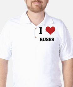 I Love Buses Golf Shirt