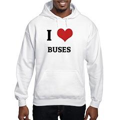 I Love Buses Hoodie