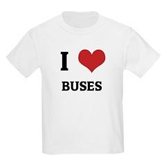I Love Buses Kids T-Shirt