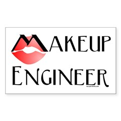 Makeup Engineer Rectangle Sticker 10 pk)