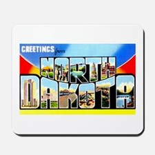 North Dakota Greetings Mousepad