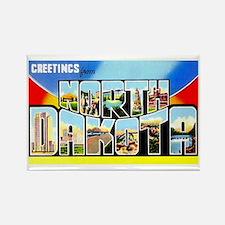North Dakota Greetings Rectangle Magnet