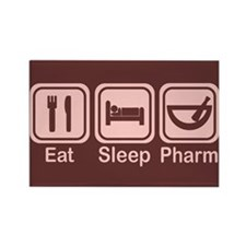 Eat, Sleep, Pharm 2 Rectangle Magnet