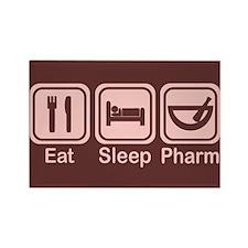 Eat, Sleep, Pharm 2 Rectangle Magnet (10 pack)
