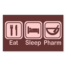 Eat, Sleep, Pharm 2 Rectangle Decal