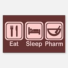 Eat, Sleep, Pharm 2 Rectangle Decal
