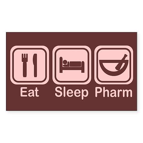 Eat, Sleep, Pharm 2 Rectangle Sticker 10 pk)