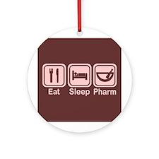 Eat, Sleep, Pharm 2 Ornament (Round)