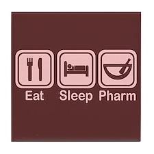 Eat, Sleep, Pharm 2 Tile Coaster