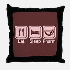 Eat, Sleep, Pharm 2 Throw Pillow