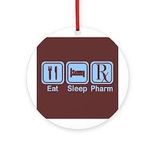 Eat, Sleep, Pharm Ornament (Round)