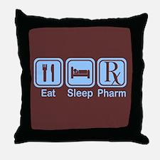 Eat, Sleep, Pharm Throw Pillow