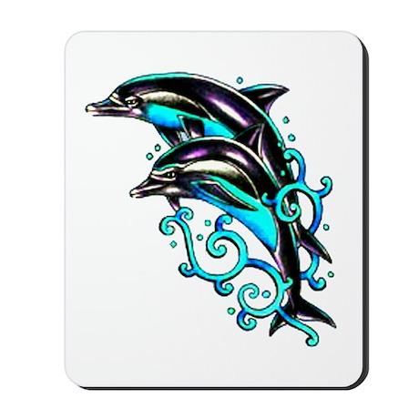 Jumping Dolphins Sea Life Mousepad