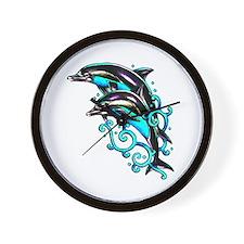 Jumping Dolphins Sea Life Wall Clock