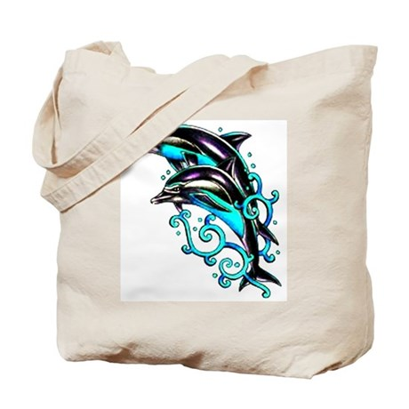 Jumping Dolphins Sea Life Tote Bag