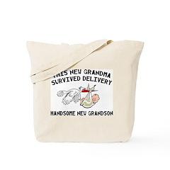 Grandma Survived Delivery Tote Bag