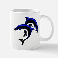Twin Dolphins Animal Tattoo Mug
