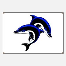 Twin Dolphins Animal Tattoo Banner