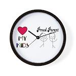 LOVE MY KIDS (PROUD PARENTS) Wall Clock