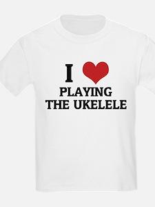 I Love Playing the Ukelele Kids T-Shirt