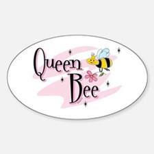 Queen Bee Oval Decal