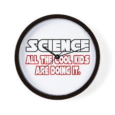 """Science...Cool Kids"" Wall Clock"
