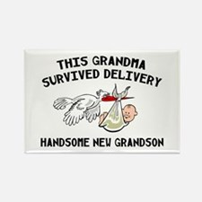 Grandma Survived Delivery Rectangle Magnet