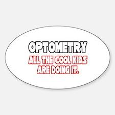 """Optometry...Cool Kids"" Oval Decal"