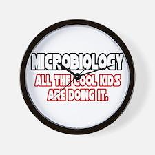 """Microbiology...Cool Kids"" Wall Clock"