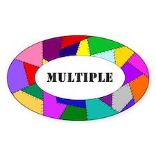 DID/MPD oval sticker-Multiple