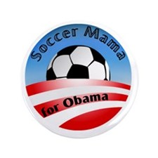 "Soccer Mama for Obama 3.5"" Button"