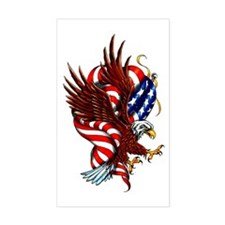 American Eagle Flag Tattoo Rectangle Decal