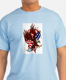 American Eagle Flag Tattoo T-Shirt
