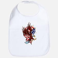 American Eagle Flag Tattoo Bib