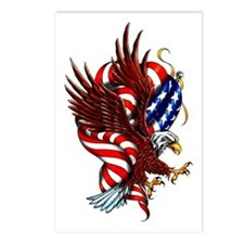 American Eagle Flag Tattoo Postcards (Package of 8