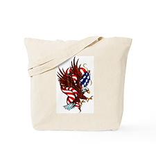 American Eagle Flag Tattoo Tote Bag