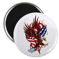 American Eagle Flag Tattoo Magnet