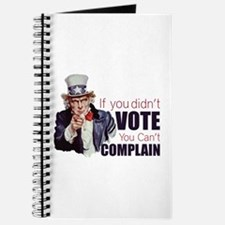 If you didn't vote, you can't complain Journal