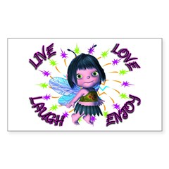 Baby Fairy Wisdom Rectangle Sticker 50 pk)