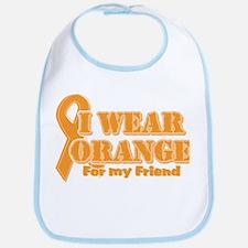 I wear orange friend Bib