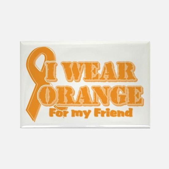 I wear orange friend Rectangle Magnet