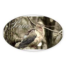 Peace Dove Oval Decal
