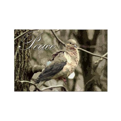 Peace Dove Rectangle Magnet