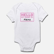 Hello My Name Is: Alexa - Infant Bodysuit
