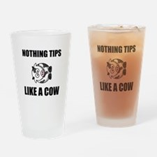 Nothing Tips Like Cow Drinking Glass