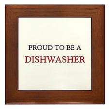 Proud to be a Dishwasher Framed Tile