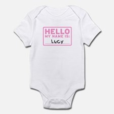 Hello My Name Is: Lucy - Infant Bodysuit